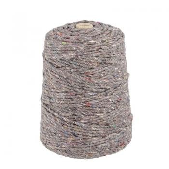 Nm 0,5 filling thread cones about 150 gr, grey multi-colour