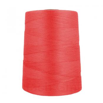 Ne 12/4 bag sewing thread polyester cones about 4,5 kg, red